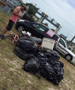 Trash Haul pulled out of the Little River